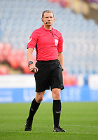 Referee Peter Wright<br /> <br /> Photographer Chris Vaughan/CameraSport<br /> <br /> The Carabao Cup First Round - Huddersfield Town v Lincoln City - Tuesday 13th August 2019 - John Smith's Stadium - Huddersfield<br />  <br /> World Copyright © 2019 CameraSport. All rights reserved. 43 Linden Ave. Countesthorpe. Leicester. England. LE8 5PG - Tel: +44 (0) 116 277 4147 - admin@camerasport.com - www.camerasport.com