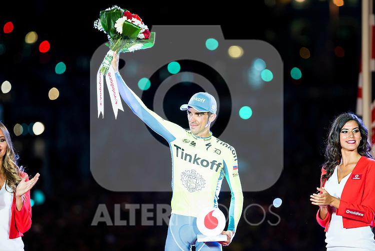Alberto Contador win the award of more combative cyclist La Vuelta a España 2016 in Madrid. September 11, Spain. 2016. (ALTERPHOTOS/BorjaB.Hojas)