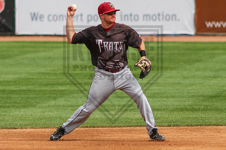 BELOIT - September 2014: Steven Halcomb (18) of the Wisconsin Timber Rattlers during a game against the Beloit Snappers on September 1st, 2014 at Pohlman Field in Beloit, Wisconsin.  (Photo Credit: Brad Krause)