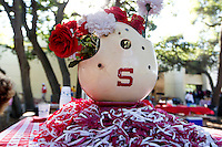 A table Buck Cardinal Hospitality Area before Saturday's, November 23, 2013, Big Game at Stanford University.