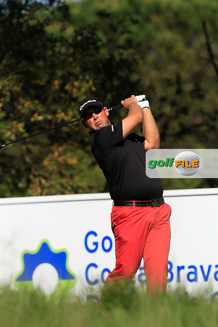 Justin Walters (RSA) on the 14th tee during Thursday's Round 1 of The Open De Espana at The PGA Catalunya Resort. 15th May 2014.<br /> Picture:  Thos Caffrey / www.golffile.ie