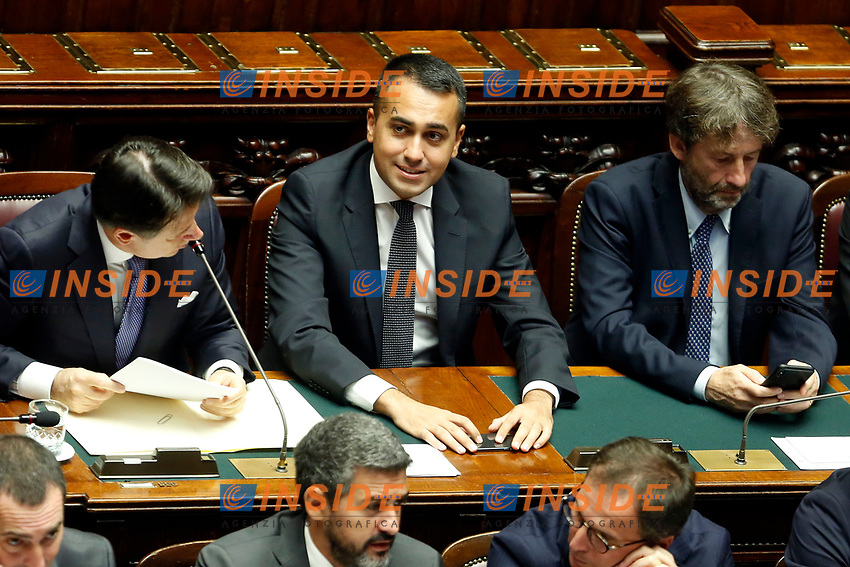 Luigi Di Maio<br /> Rome September 9th 2019. Lower Chamber. Programmatic speech of the new appointed Italian Premier at the Chamber of Deputies to explain the program of the yellow-red executive. After his speech the Chamber is called to the trust vote at the new Government. <br /> Foto  Samantha Zucchi Insidefoto