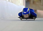 12 December 2006: Amy Gough, from Canada, slides down a straightaway during a training run in preparation for the World Cup Skeleton Competition at the Olympic Sports Complex on Mount Van Hoevenburg  in Lake Placid, New York, USA.&amp;#xA;&amp;#xA;Mandatory Photo credit: Ed Wolfstein Photo<br />
