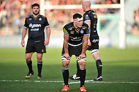 Francois Louw of Bath Rugby looks on during a break in play. European Rugby Champions Cup match, between RC Toulon and Bath Rugby on January 10, 2016 at the Stade Mayol in Toulon, France. Photo by: Patrick Khachfe / Onside Images
