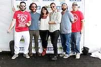 PHILADELPHIA, PA - JULY 10 :  The Strumbellas pictured backstage at Radio 104.5 Summer Block Party at Festival Peir in Philadelphia, Pa on July 10, 2016  photo credit Star Shooter/MediaPunch