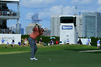 Tyrrell Hatton (ENG) in action during the third round of the Northern Trust, played at Liberty National Golf Club, Jersey City, New Jersey, USA 10/08/2019<br /> Picture: Golffile | Michael Cohen<br /> <br /> All photo usage must carry mandatory copyright credit (© Golffile | Phil Inglis)