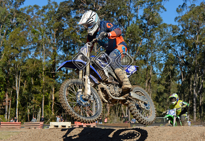 Jimmy Griffin / Yamaha<br /> MX Nationals / Round 6 / MXD<br /> Australian Motocross Championships<br /> Raymond Terrace NSW<br /> Sunday 5 July 2015<br /> &copy; Sport the library / Jeff Crow
