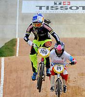 MEDELLIN- COLOMBIA -29-05-2016: Mariana Pajon (COL), durante Campeonato Mundial de BMX 2016 que se realiza entre el 25 y el 29 de mayo de 2016 en la ciudad de Medellín. / Mariana Pajon (COL) during the 2016 BMX World Championships to be held between 25 and 29 May 2016 in the city of Medellin. Photo: VizzorImage / Cristian Alvarez / Cont.