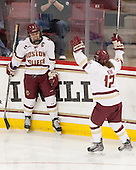 Carpenter goal overturned on review due to offsides. Alex Carpenter (BC - 5), Kenzie Kent (BC - 12) - The Boston College Eagles defeated the Northeastern University Huskies 5-1 (EN) in their NCAA Quarterfinal on Saturday, March 12, 2016, at Kelley Rink in Conte Forum in Boston, Massachusetts.