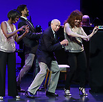 """Housso Semon, Andrew Fitch, Hal Shane, Debbie Gravitte during the curtain call bows for """"They're Playing Our Song"""" Concert Benefit for The Actors Fund at the Music Box Theatre on February 11, 2019 in New York City."""