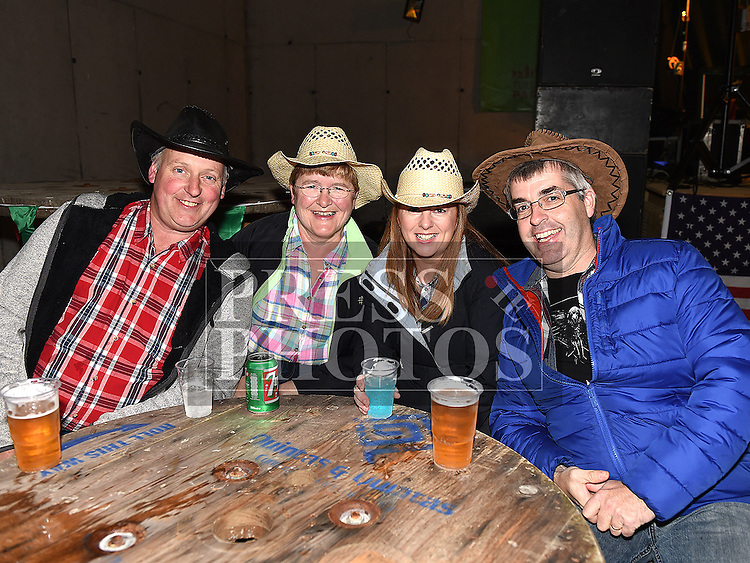 Paddy and Paula Devine and Martin and Sinead Hampshire at the Hooley on the Hill barn Dance on the Hill of Rath. Photo:Colin Bell/pressphotos.ie