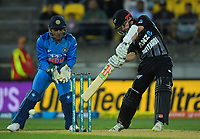NZ's Kane Williamson bats during the international Twenty20 cricket match between NZ Black Caps and India at Westpac Stadium in Wellington, New Zealand on Wednesday, 6 February 2019. Photo: Dave Lintott / lintottphoto.co.nz