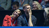 Arsenal & German footballer Per Mertesacker enjoys the 2nd semi final match at the ATP World Tennis  the O2, London, England on 18 November 2017. Photo by Andy Rowland.