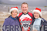 Pictured at the Christmas Day swim at Dundag, Muckross, Killarney, in aid of Aware were Fiona O'Donoghue, Mark Williams and Cliodhna O'Donoghue, Killarney.