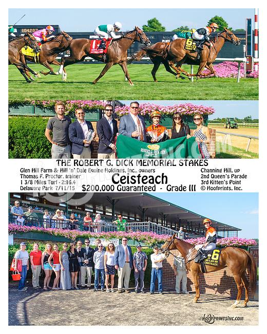 Ceisteach winning The Robert Dick Memorial Stakes (gr3) at Delaware Park on 7/11/15