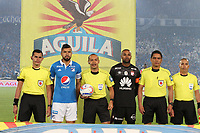 BOGOTÁ- COLOMBIA, 13-12-2017.Luis Sánchez González referee central.Millonarios  y el Independiente Santa Fe durante  el primer partido por la final  vuelta de la Liga Aguila 2017  entre Millonarios y el Independiente Santa Fe , jugado en el estadio Nemseio Camacho El Campín de la ciudad de Bogotá. /Central referee Luis Sanchez Gonzalez. Millonarios  and Independiente Santa Fe , during firts match of the final round of the Aguila League 2017 between Millonarios and  Independiente Santa Fe , played at the Nemesio Camacho El Campin stadium of the city ofBogota: Vizzorimage / Felipe Caicedo / Staff