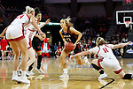 SIOUX FALLS, SD - MARCH 7: Ella Ogier #10 of the Omaha Mavericks drives to the paint against the South Dakota Coyotes at the 2020 Summit League Basketball Championship in Sioux Falls, SD. (Photo by Richard Carlson/Inertia)