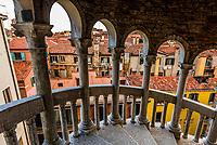 The tallest spinal staircase in Venice, Scala Contrarini del Bovolo, Venice, Italy.