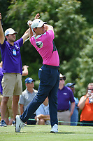 Rory McIlroy (NIR) watches his tee shot on 9 during round 3 of the WGC FedEx St. Jude Invitational, TPC Southwind, Memphis, Tennessee, USA. 7/27/2019.<br /> Picture Ken Murray / Golffile.ie<br /> <br /> All photo usage must carry mandatory copyright credit (© Golffile | Ken Murray)