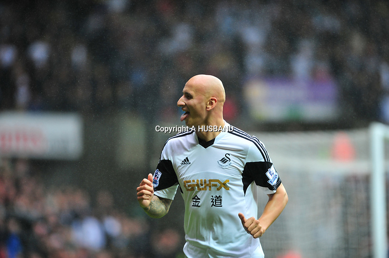 Swansea v Manchester UnitedPlayed at the Liberty Stadium, SwanseaBarclays Premier League 2013-08-17Manchester United take on Swansea city in their first game of the Premier League 2013/2014 season at the Liberty Stadium.Swansea's Jonjo Shelvey