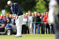 Matthew Fitzpatrick (ENG) putts on the 15th green during Sunday's Final Round of the 2017 Omega European Masters held at Golf Club Crans-Sur-Sierre, Crans Montana, Switzerland. 10th September 2017.<br /> Picture: Eoin Clarke | Golffile<br /> <br /> <br /> All photos usage must carry mandatory copyright credit (&copy; Golffile | Eoin Clarke)