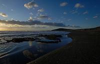 El Medano beach at dusk, El Medano, Tenerife, Canary Islands.