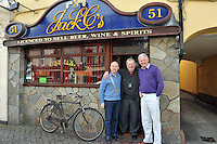 "President of the Killarney Chamber of Tourism and Commerce Johnny Maguire with High Street publican Jack C O""Shea and  outgoing president Mike Buckley in Killarney on Monday after his election to the post. .Picture by Don MacMonagle"