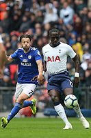 Harry Arter of Cardiff City and Moussa Sissoko of Tottenham Hotspur during Tottenham Hotspur vs Cardiff City, Premier League Football at Wembley Stadium on 6th October 2018