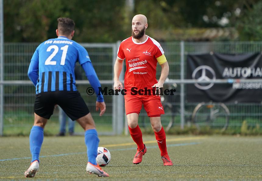 Yannick Walter (SKV Büttelborn) - Büttelborn 03.10.2019: SKV Büttelborn vs. FSG Riedrode, Gruppenliga Darmstadt