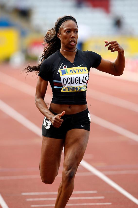 Photo: Richard Lane/Richard Lane Photography..Aviva World Trials & UK Championships athletics. 10/07/2009. Montell Douglas in a women's 100m heat.