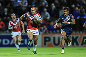 7th September 2017, Beaumont Legal Stadium, Wakefield, England; Betfred Super League, Super 8s; Wakefield Trinity versus St Helens; TongaBill Tupou of Wakefield Trinity makes a big run down field