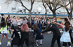 The Youth Theater Carson City Showstoppers dance to Thriller during the Carson City Boo-nanza on Wednesday, Oct. 25, 2017. <br /> Photo by Cathleen Allison/Nevada Momentum