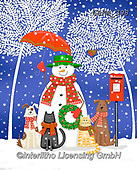Kate, CHRISTMAS ANIMALS, WEIHNACHTEN TIERE, NAVIDAD ANIMALES, paintings+++++Pets under white trees,GBKM398,#xa#