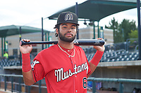 Billings Mustangs outfielder Quin Cotton (6) poses for a photo before a Pioneer League game against the Grand Junction Rockies at Dehler Park on August 15, 2019 in Billings, Montana. Billings defeated Grand Junction 11-2. (Zachary Lucy/Four Seam Images)