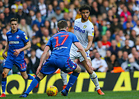 Leeds United's Tyler Roberts takes on Bolton Wanderers' Callum Connolly<br /> <br /> Photographer Alex Dodd/CameraSport<br /> <br /> The EFL Sky Bet Championship - Leeds United v Bolton Wanderers - Saturday 23rd February 2019 - Elland Road - Leeds<br /> <br /> World Copyright © 2019 CameraSport. All rights reserved. 43 Linden Ave. Countesthorpe. Leicester. England. LE8 5PG - Tel: +44 (0) 116 277 4147 - admin@camerasport.com - www.camerasport.com