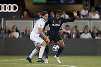 San Jose, CA - Wednesday July 25, 2018: Danny Hoesen during a Major League Soccer (MLS) match between the San Jose Earthquakes and the Seattle Sounders FC at Avaya Stadium.