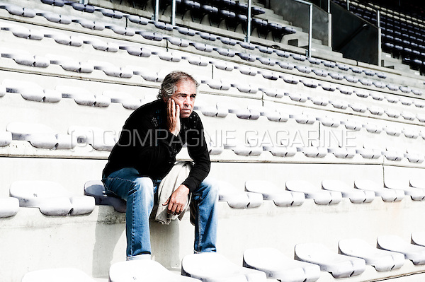 Former Spanish football player Juan Lozano in the stadium of Germinal Beerschot, where he started his professional career in 1973 (Belgium, 23/05/2012)