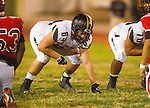 Inglewood, CA 10/09/14 - Johnny Kimura (Peninsula #64) in action during the Palos Verdes Peninsula vs Morningside CIF Varsity football game at Coleman Field in Inglewood.  Peninsula defeated Morningside 24-13.