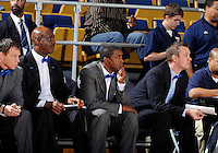 Florida International University Head Coach Isiah Thomas during the game against Troy University, which won the game 75-70 in overtime on February 23, 2012 at Miami, Florida. .