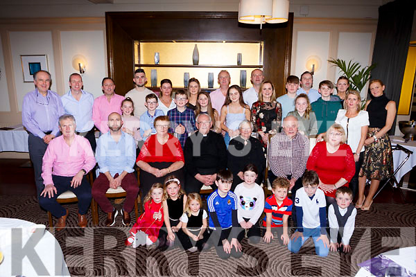 Rita Kingston Fountainstown Co Cork celebrated her 80th birthday with her family and cousin Monsignor Dan Riordan Castleisland in the Brehon Hotel on Saturday night