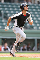Outfielder Nomar Mazara (12) of the Hickory Crawdads in a game against the Greenville Drive on Friday, June 7, 2013, at Fluor Field at the West End in Greenville, South Carolina. Mazara is the No. 16 prospect of the Texas Rangers, according to Baseball America. Greenville won the resumption of this May 22 suspended game, 17-8. (Tom Priddy/Four Seam Images)