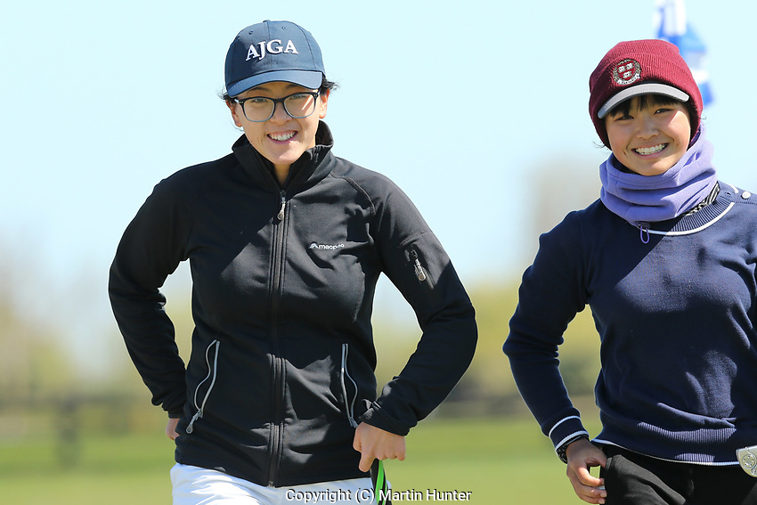 Mary Chen (L) and Mimi Guo (R). Jennian Homes Charles Tour, Pegasus Open, Christchurch, New Zealand, Sunday 6 October 2019. Photo Martin Hunter/www.bwmedia.co.nz