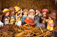 Porcelain Christmas Nativity scene. WesternSprings Illinois USA