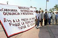 Messico, Acapulco.Presentazione della carovana di Via Campesina partita da Acapulco per partecipare al forum alternativo per la Vita e la giustizia ambientale e sociale.Mexico, Cuernavaca.Convoy of Via Campesina to COP 16, Cancun