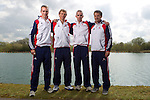 Mcc0038874 . Daily Telegraph..DT Sport..Lightweight Men's Four left to right, Peter Chambers, Rob Williams, Richard Chambers and Chris Bartley.The announcement of the GB Rowing Crews for the first World Cup.. .Reading 4 April 2012