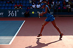 Erina Hayashi (JPN), <br /> AUGUST 20, 2018 - Tennis : <br /> Women's Doubles Round of 32 <br /> at Jakabaring Sport Center Tennis Court <br /> during the 2018 Jakarta Palembang Asian Games <br /> in Palembang, Indonesia. <br /> (Photo by Yohei Osada/AFLO SPORT)