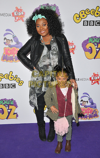 Paisley Billings and kid at the &quot;Kate &amp; Mim-Mim: Kate in Oz&quot; TV world premiere, Curzon Soho cinema, Shaftesbury Avenue, London, England, UK, on Saturday 22 October 2016. <br /> CAP/CAN<br /> &copy;CAN/Capital Pictures