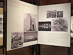 Pittsburgh PA:  View of the architectural view area of the Imaging for Modern exhibition inside the Carnegie Museum of Art - 2015.<br />