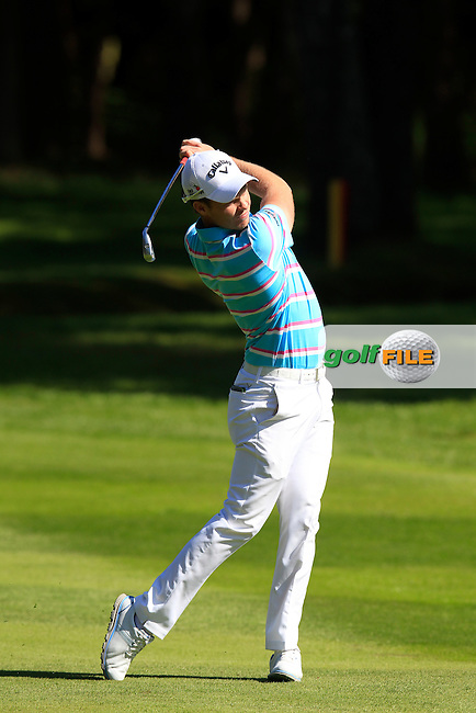 Danny WILLETT (ENG) during round 1 of the 2015 BMW PGA Championship over the West Course at Wentworth, Virgina Water, London. 21/05/2015<br /> Picture Fran Caffrey, www.golffile.ie: