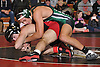 Andrew Cantatore of Locust Valley, top, controls Paul North of Connetquot at 132 pounds during the final round of the 2016 Ted Petersen Tournament at Island Trees High School on Saturday, Jan. 2, 2016. Cantatore won the match.